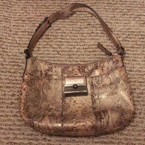 Coach snakeskin evening bag